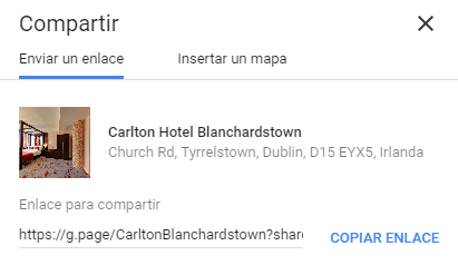 Enlace corto en Google Maps