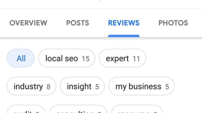 Así se ven las nuevas tags de las reseñas en Maps