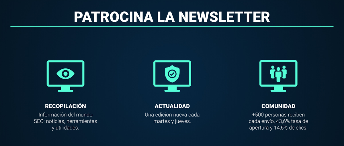 Patrocinios newsletter SEO